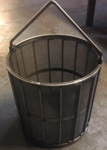 large steel baskets