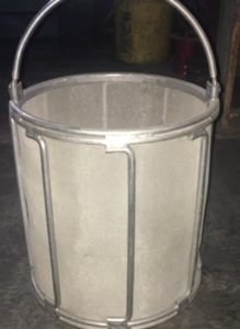 small s.s. or steel baskets